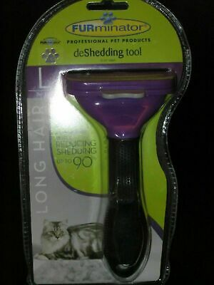 Furminator deShedding tool - Short hair removal tool for Large cats