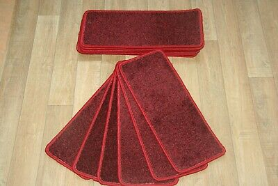 14 Carpet Stair case Treads Jubilee Red Stain Free - Carpet Stair Pads