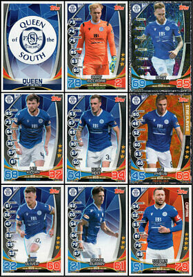 SPFL MATCH ATTAX 2019/20 19/20 QUEEN OF THE SOUTH 9 CARD TEAM SET inc MAN OF THE