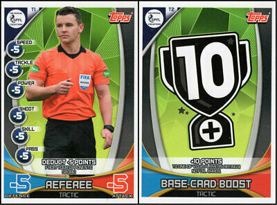 Topps Spfl Match Attax 2019/20 19/20 Set Of Two (2) Tactic Cards - Referee Boost