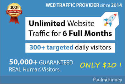 Targeted Real Website Traffic for 6 Months Website Traffic for 6 Months