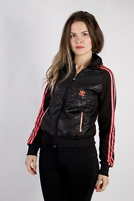 Vintage Adidas Tracksuits Top Shell Sportlife Style Retro UK XL Black - SW2276