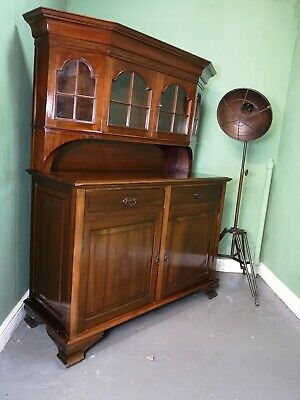 An Antique Edwardian Mahogany Sideboard Cabinet Dresser  ~Delivery Available~