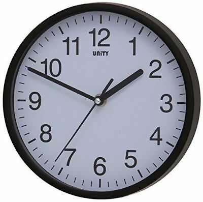 New Large 12 Inch Quartz Black Case Wall Clock School Office Bedroom Kitchen30Cm