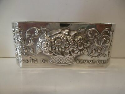 Serviettenring-833 Silber-Margeriten / solid silver Napkin Ring with daisies