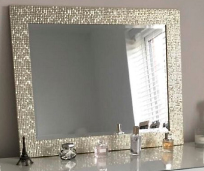 Brand New Mosaic Effect Large Wall Hanging Mirror With a Decorative Design 50x60