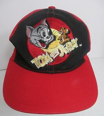 Tom and Jerry Hat Cap Snapback VTG 1993 Cartoon Corner Brand Medium
