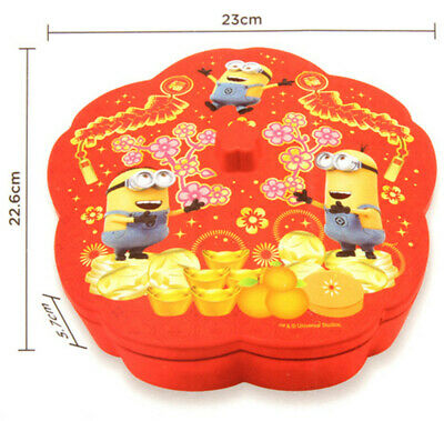Disney Despicable Me Minions Flower Shape Chinese New Year Candy Box Mnm10248