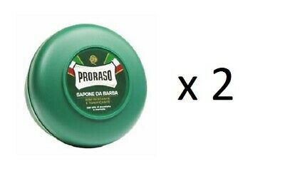 Proraso Shaving Soap, Menthol and Eucalyptus 5.2 oz (2 Pack)