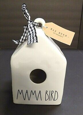 """BRAND NEW"" Rae Dunn ""Mama Bird"" Birdhouse Artisan Collection by Magenta"