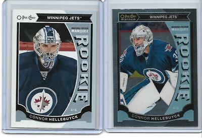 2015-16 O-Pee-Chee Platinum Marquee Rookies #M36 Connor Hellebuyck +  OPC RC