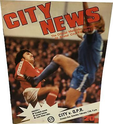 PRE-OWNED Bristol City V QPR Division One Matchday 17/02 1978-79 Programme DS324
