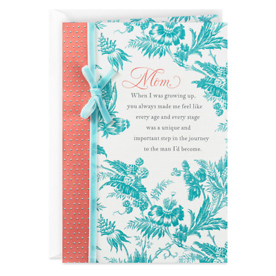 Hallmark Greetings Card -Toile Print Birthday Card for Mom From Son