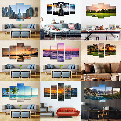 5pcs/Set Art Oil Painting Print Poster Canvas Picture Unframed Home Gift Decor