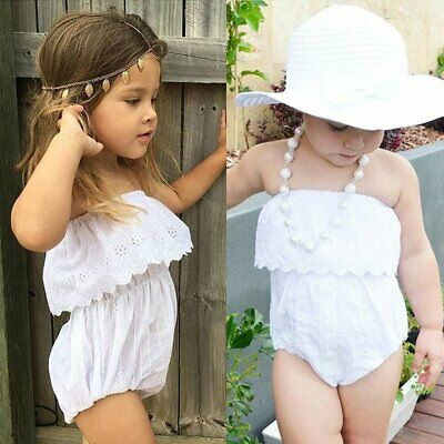 Newborn Infant Baby Girl Romper Jumpsuit Bodysuit Outfits Sunsuit Clothes