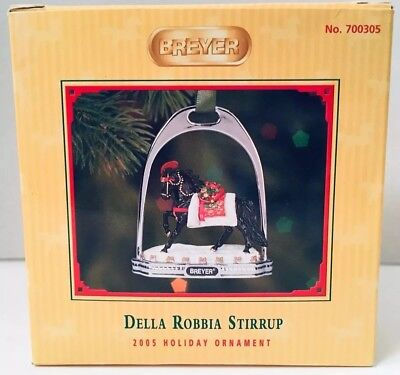 Breyer DELLA ROBBIA Stirrup 2005 Holiday Ornament Andalusian Christmas Horse NEW
