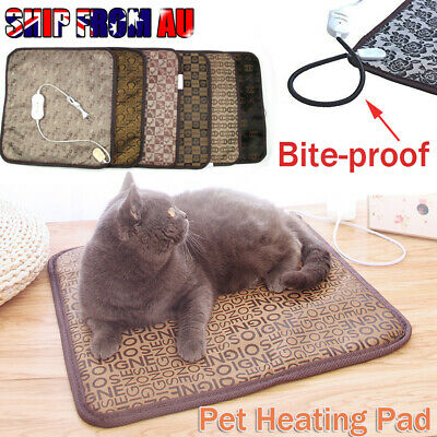 2019Pet Electric Heat Heated Heating Heater Pad Mat Blanket Bed Dog Cat Bunny
