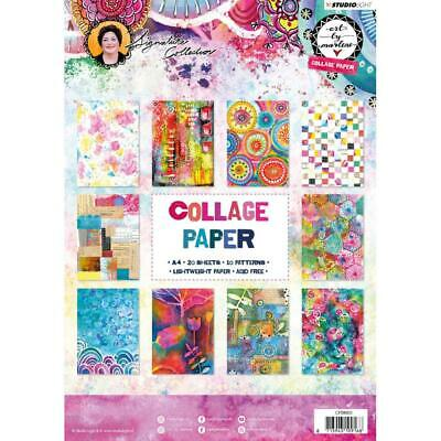 ART BY MARLENE 'COLLAGE PAPER NR.03' 10 Designs x2 20PK A4 CPBM03 Mixed Media