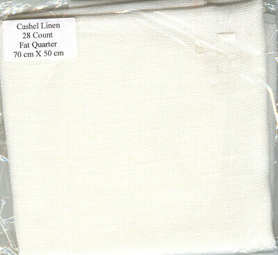 Cashel 28 count Linen by Zweigart - Colour:  White