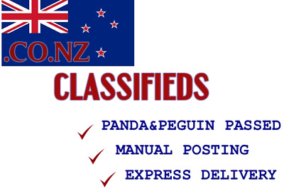 Manually Post Your Business in 11 High Pr New Zealand Classifieds
