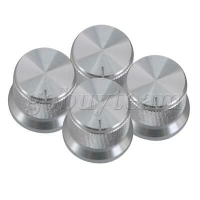 4x Net Style Electronic Potentiometer Knob Amplifier Knob 20x17mm Silver