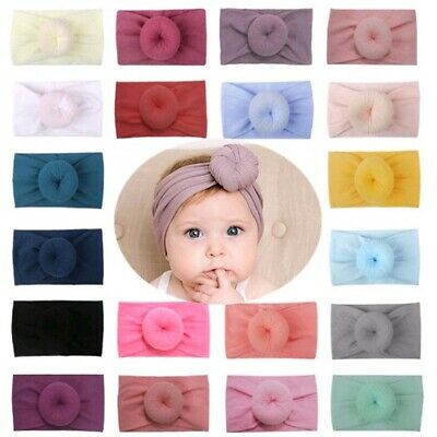 Baby Girls Toddler Donut Elastic Hair Band Headband Knotted Hair Accessories