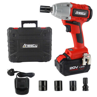 """Brushless Cordless Impact Wrench 1/2"""" Square Impact Wrench 4.0Ah Battery 400Nm"""