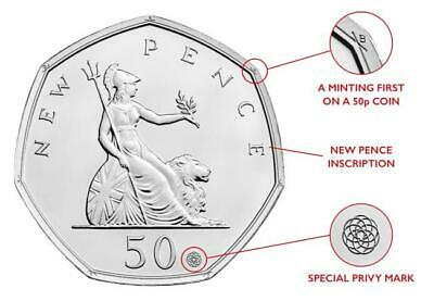 Royal Mint 50 Years of the 50p 2019 BU A Minting 1st. Special features (not SYO)