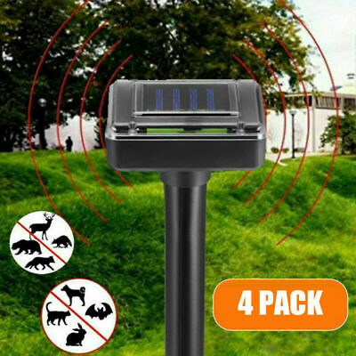 4X Ultrasons energie solaire jardin taupes rats rongeurs répulsif Anti Insecte