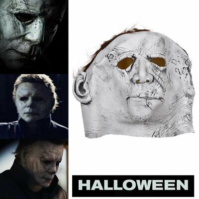 Halloween Michael Myers Mask for Men Adults Scary Latex Full Head Cosplay Fancy