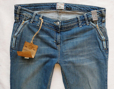 River Island  Jeans 16 R zip shadow pockets sexy bootleg mid blue  36/33 NEW