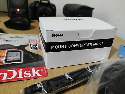 Brand new Sigma MC-11 adapter with extras