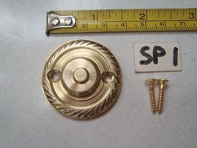 A SOLID LACQUERED BRASS ROPE EDGED DOOR KNOCKER STRIKER PLATE 38 mm (ref) SP 1