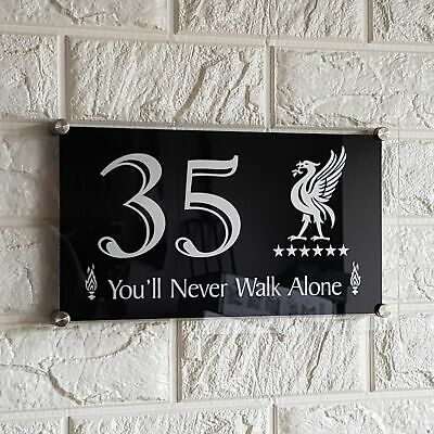 Liverpool YNWA 6 Star House Number Plaque Door Address Sign