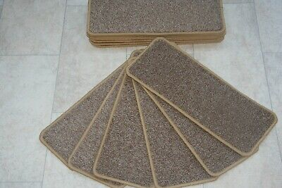 14 Carpet Stair Case Treads Dublin Heathers Biscuit Stain Free Carpet Stair Pads