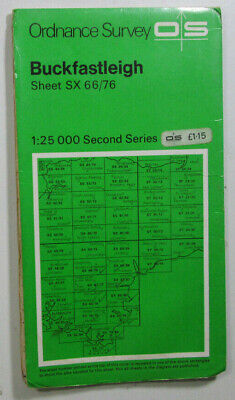 1975 Old OS Ordnance Survey Second Series Pathfinder Map SX 66/76 Buckfastleigh