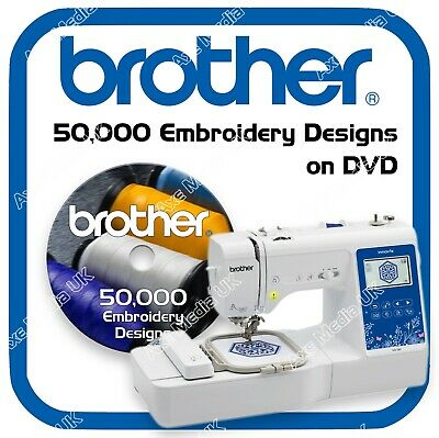 50,000 Brother Babylock Bernina Deco Embroidery design files PES on DVD