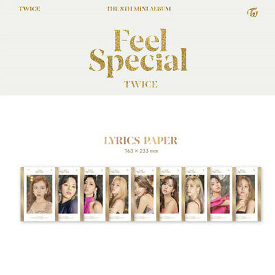TWICE - 8th MINI ALBUM FEEL SPECIAL LYRICS PAPER TZUYU MINA SANA MOMO NAYEON