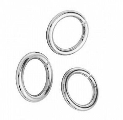 Jewellery making findings Sterling Silver 925 Open Jump Rings Many sizes