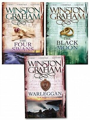 Winston Graham Poldark Series Trilogy Books 4, 5, 6, Collection 3 Books Set PB