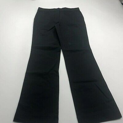Living Planet Womens Straight Leg Pants Organic Cotton/ Stretch Size 8 Black NWT
