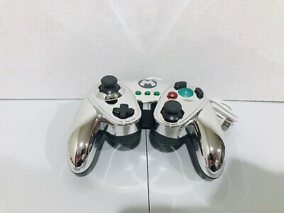 Metal Mario Nintendo Wii/Wii U Controller Silver PDP Wired Fight Pad 085-006
