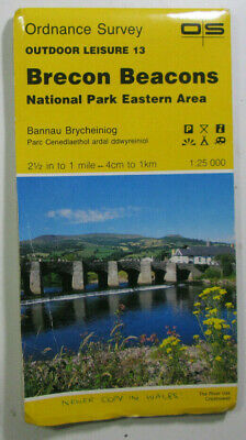 1990 Old OS Ordnance Survey Outdoor Leisure Map 13 Brecon Beacons Eastern Area