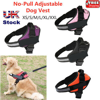 Large Dog Puppy Vest Harness Adjustable Strong Outdoor Non Pull Padded Harnesses