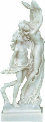 Ancient Greek God Apollo and Daphne Alabaster Statue / Sculpture 23cm/9.05in