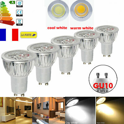 Dimmable 6W 9W 12W GU10 LED COB Ampoules Plafonnier Lampe Downlight Spot Lumière