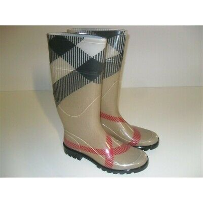 BURBERRY STIVALI DA Pioggia Rainboot Scarpe Donna Shoes