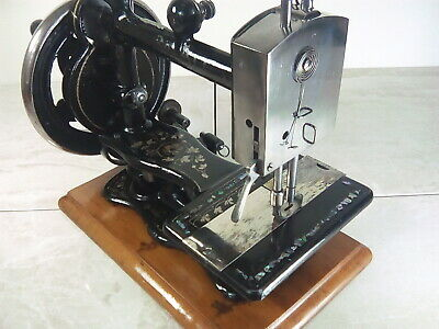 Kimball & Morton 'So-All' Antique Fiddlebase Sewing Machine w/ Mother of Pearl
