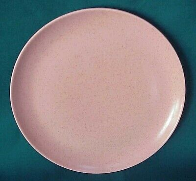 "Vtg. Monterey California Pottery 10"" Pink Speckled Dinner Plate Exc. Condition"