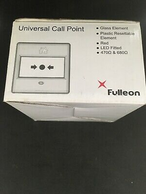 Fulleon Fire Alarm Universal Call Point 4920016FULL-0018XC Red LED Fitted